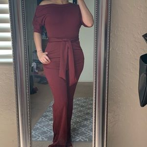 Dresses & Skirts - Maroon Jumpsuit